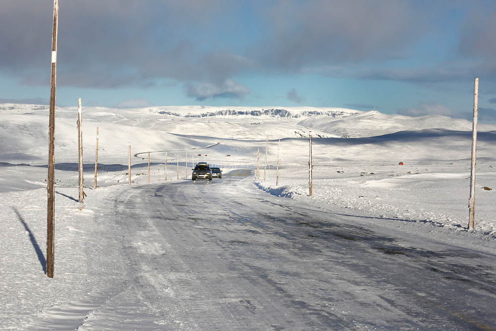 Hardangervidda, October 27th. Photo by Sigmund Krøvel Velle / Statens Vegvesen.