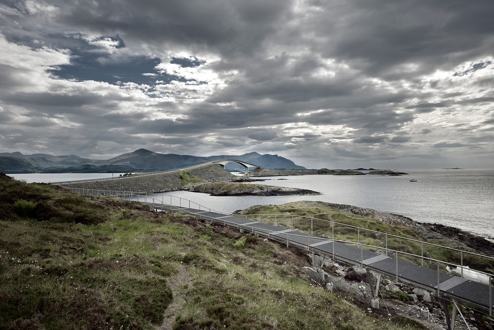 Atlantic Road - Atlanterhavsvegen, July 5th. Photo by Roger Ellingsen, Statens Vegvesen.