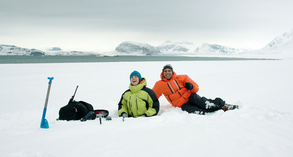 Checco Zalone on Svalbard, Norway. Press photo.