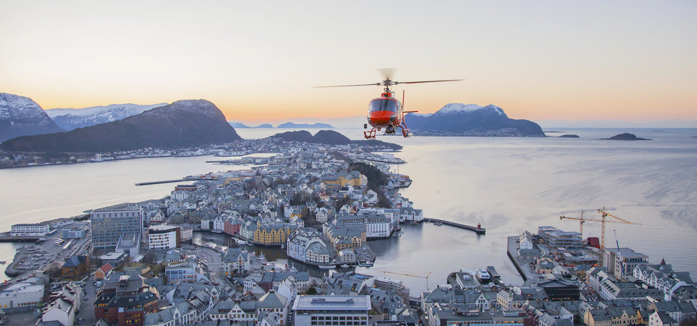 Alesund-based Orange Aerial provided the aerial services for the Trollfjorden shoot.