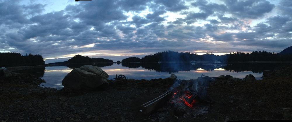 Alaskan summer sunset!