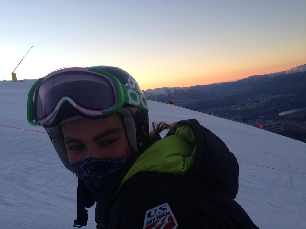 Tanman during an early morning at Coronet Peak