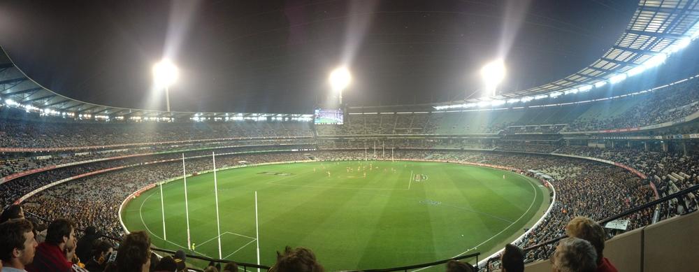 AFL game, crazy aussies..