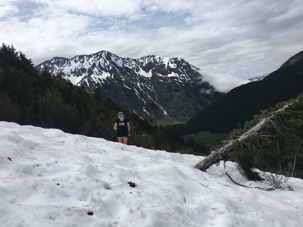 Josefin on a long upper winner creek hike.