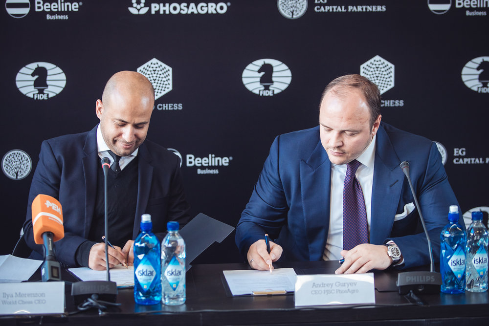 Ilya Merenzon with Andrey Guriev, Phosagro CEO