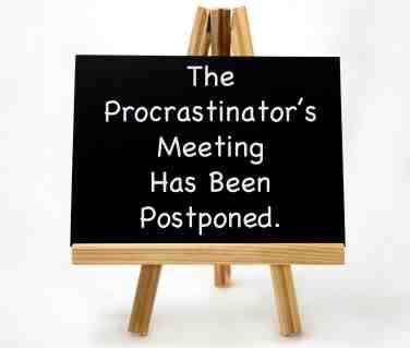 procrastination and stress