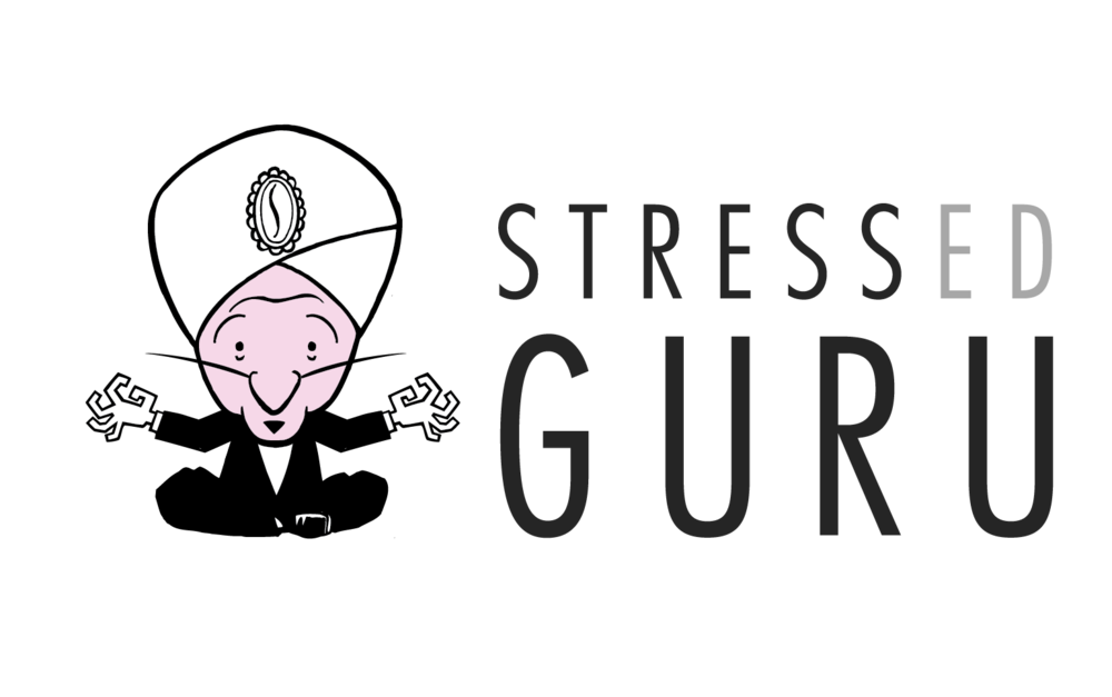 Right click then 'Save As' - Stressed Guru Logo no background - BLACK TEXT