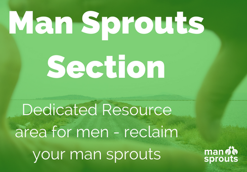 the man sprouts section is for men and their mental health and development