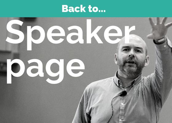 David Algeo is a motivational speaker on wellbeing