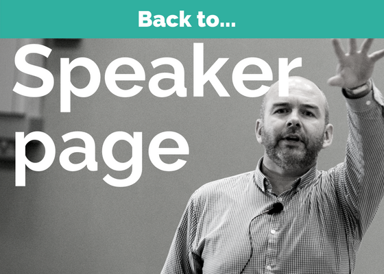 speaker and trainer in resilience and male mental health, David Algeo