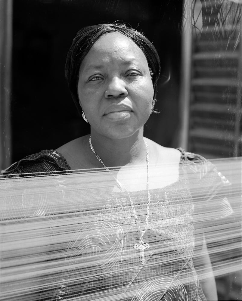 ANTOINETTE BOUKOUGO Pagne weaver, BURKINA FASO