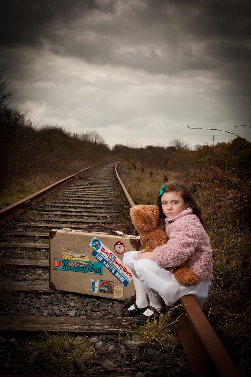 sitting on old railway line Askeaton