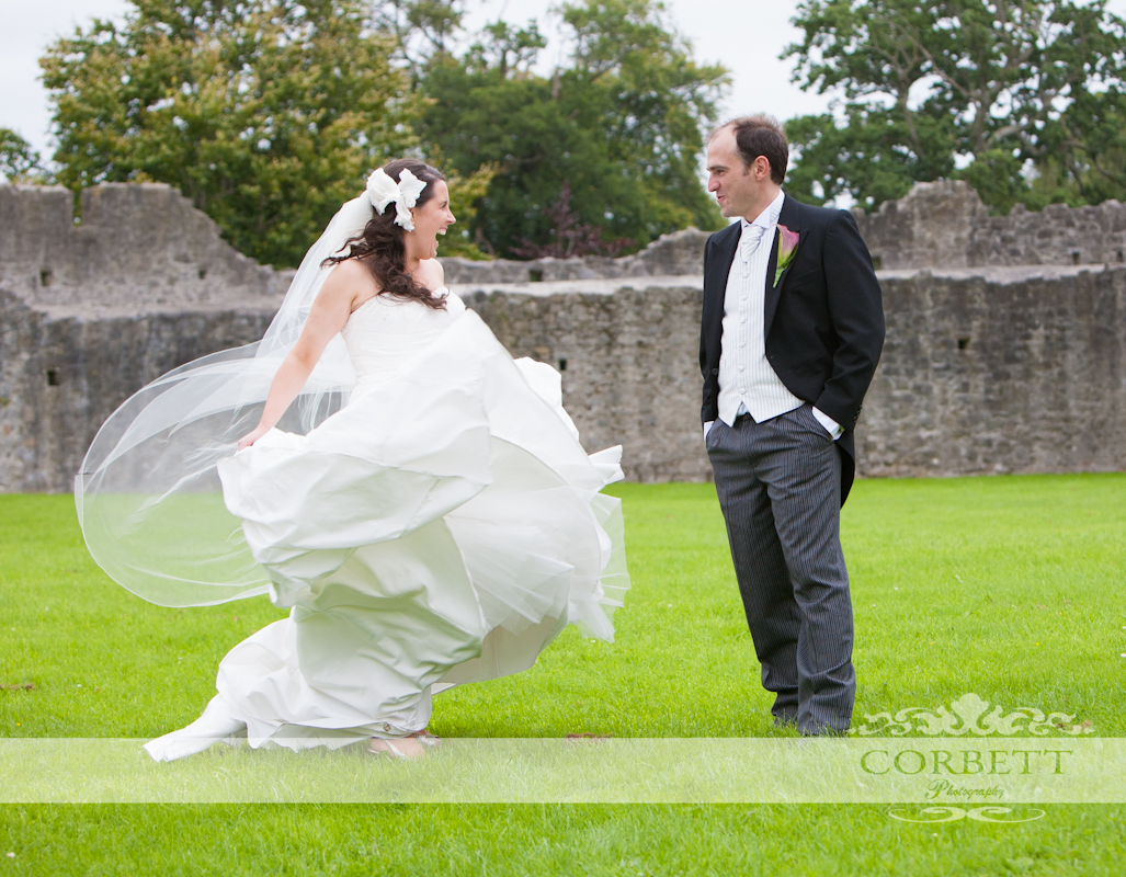 Carmel and Cesar in Adare Castle