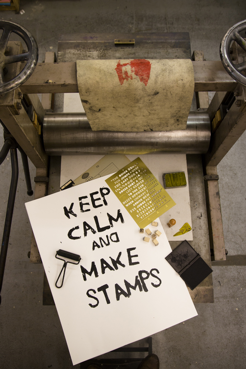 Letterplaat 'The Copycat' van Tom Dixon via  Nordic New  'Keep Calm And make Stamps van  StyleCookie