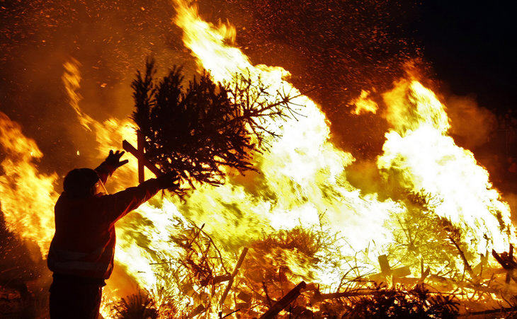 bright bonfires to mark end of the 12 days of christmas season