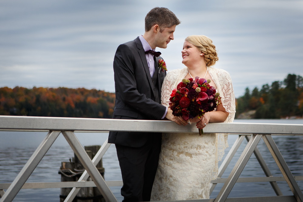 Jim and me at our wedding this past October in Rosseau.