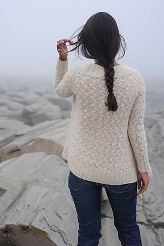 Rocky Coast Cardigan by Hannah Fetig. Image courtesy of Coastal Knits.