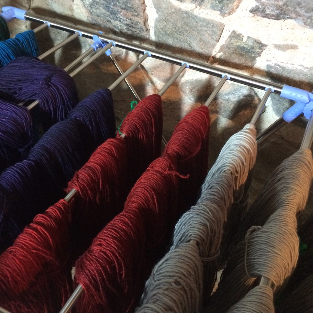 Lots and lots of wholesale orders heading the Purl3, Stix and Stones, and Wool Boutique,