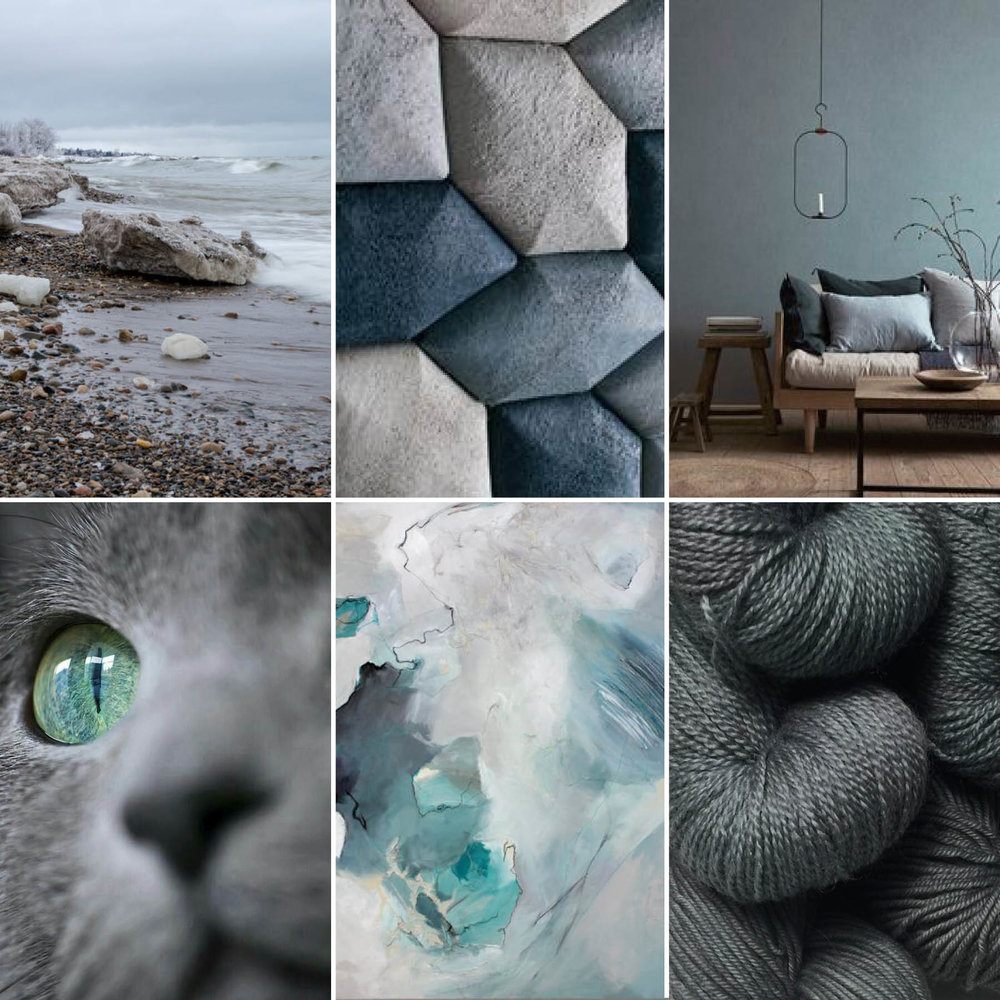 View our pinterest board for more of our colourway inspirations and these original sources.