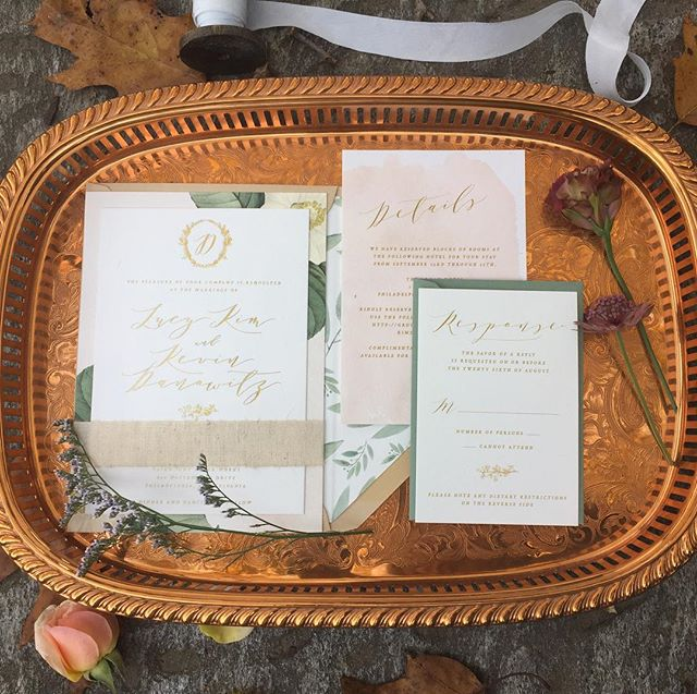 Invitations set the tone for your day.. we love this one @papertreestudio