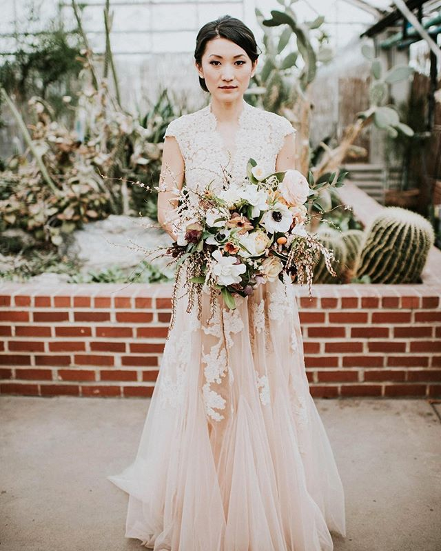 Our beautiful bride's blush @reem_acra wedding dress made us swoon!!! @bethyz  @therealm2 @bekebeau @starrevents @sullivanowenstudio @amandadandreahair