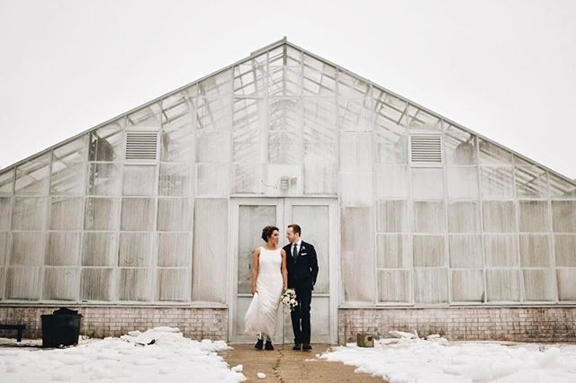 We love our fearless couple that was up for braving the weather! @patrobinsonphoto