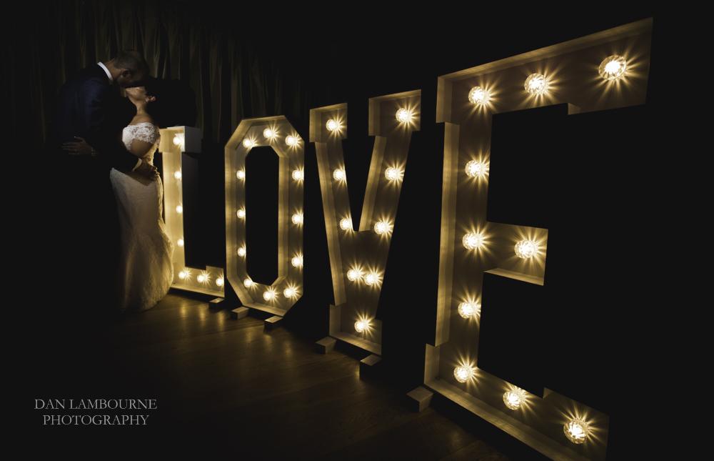 light up love letters wedding