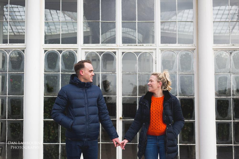 Emma & Jamie Pre Wedding Shoot at Woolaton Park in Nottingham with Dan Lambourne Photography
