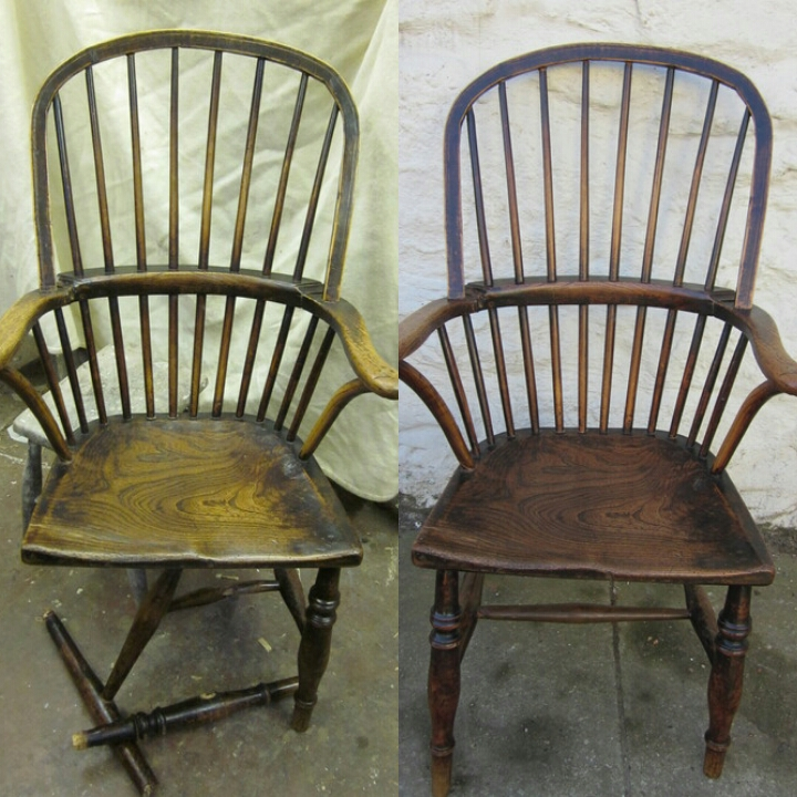 Windsor chair - before and after