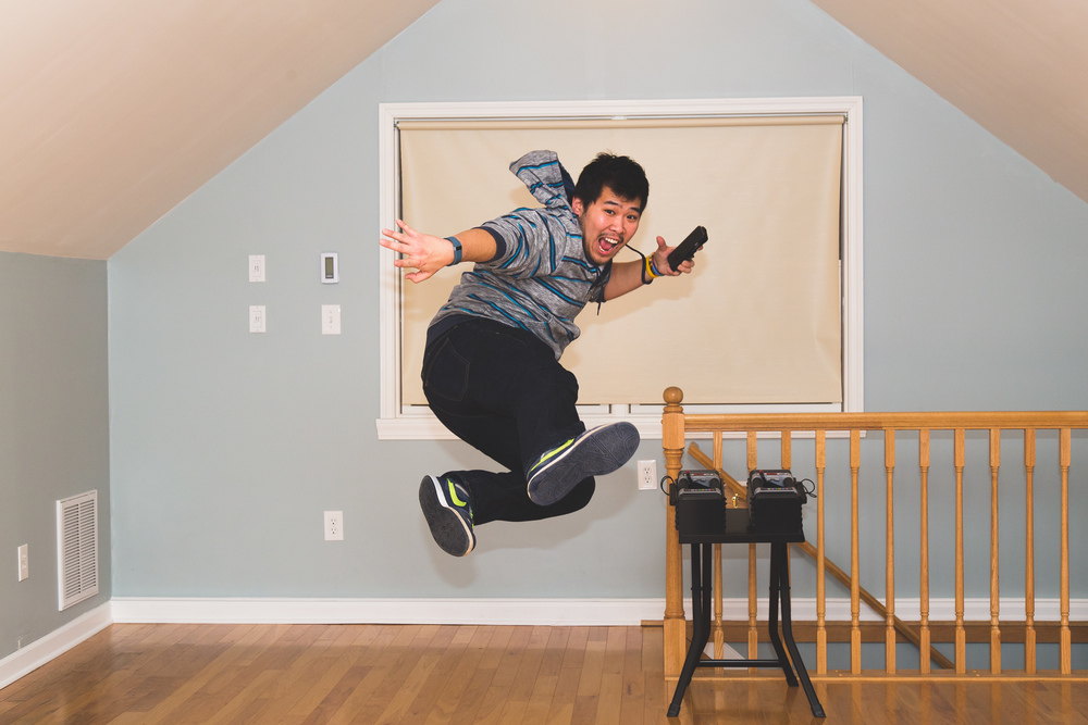 Day 17 - Jump Kick Selfie