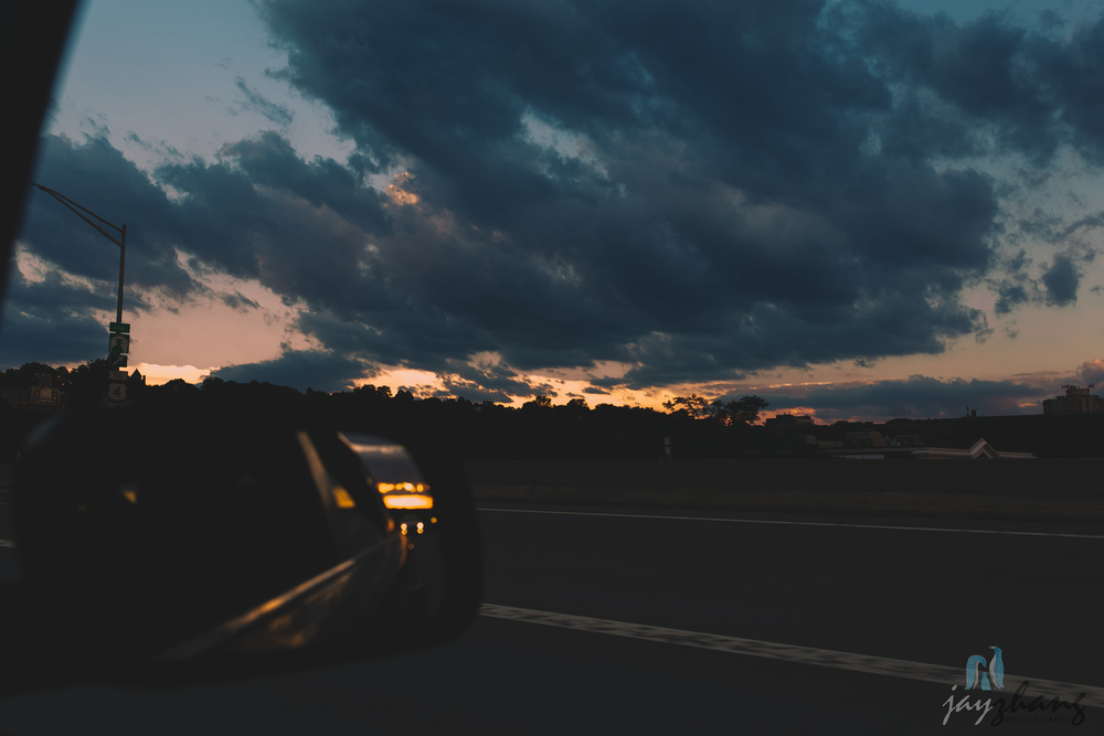 Day 245 - Driving Sunset