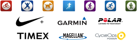 Choose from  hundreds of popular fitness apps and wearables to collect points.
