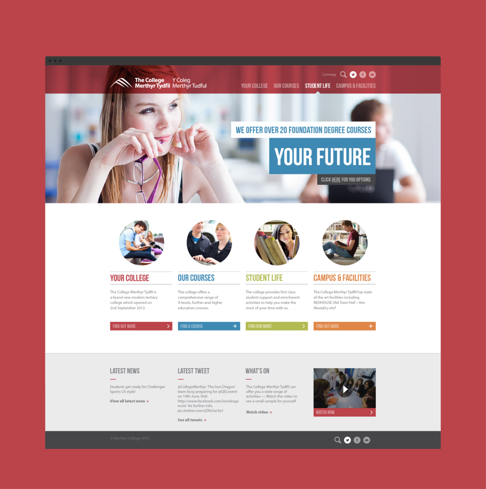 A powerful CMS was used to allow the college's team to update every element of the website. We provided training in how to maintain the website.