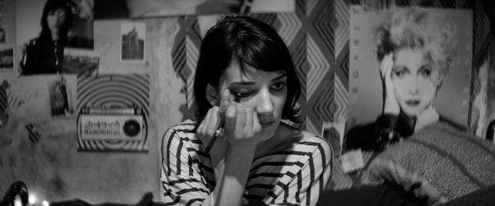 "still from ""A GIRL WALKS HOME ALONE AT NIGHT"""