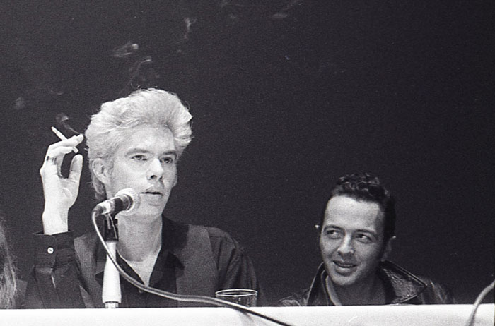 Jim Jarmusch & Joe Strummer, NY FIlm FestivaL 1989  -  PHOTO: GODLIS