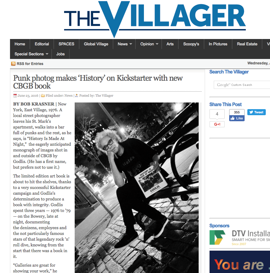 THE VILLAGER - JUNE 2016 - Bob Krasner