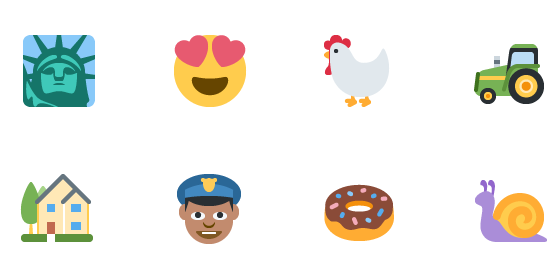 Twitter hired the Icon Factory to create a new set of emoji that fit with their brand, but also one that maintains the subtleties that influence inherent meaning of the Apple native emoji. The results are beautiful icons that don't get lost in translation.