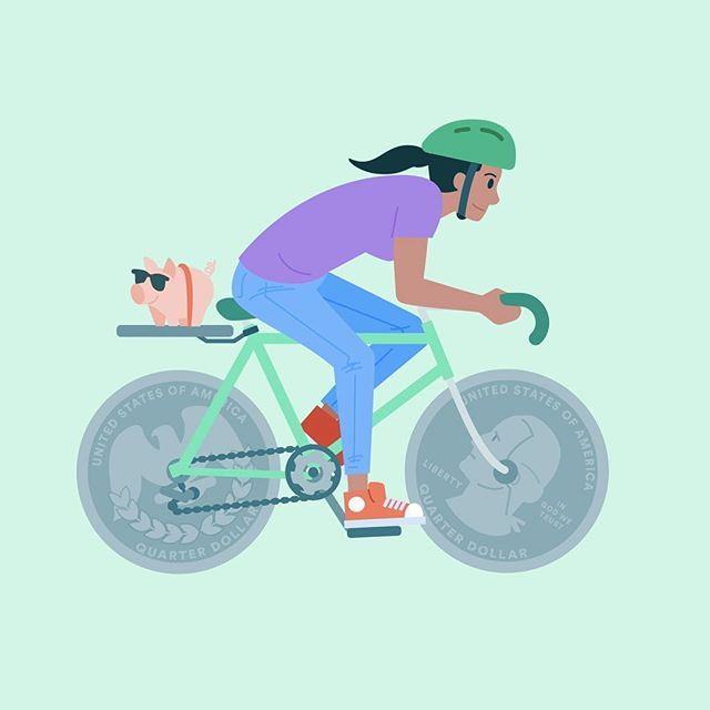 Here's a little #illustration I did for Earnest. It was for a blog post about ways to stay fit and save money over the summer! It's a bit toasty for long afternoon bike rides but I still like to take my Peugeot out for short trips.  I'm currently looking for new illustration and design opportunities! Feel free to reach out if you need some design love.