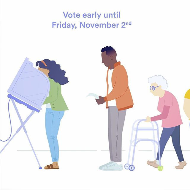 Today (Friday) is the last day to vote early in Texas, so be sure to get out today or Tuesday, November 6th to cast your ballot! 🗳There's a ton of resources out there to figure out where to vote and what's on your ballot. Votesaveamerica.com is a great resource. ✅ I wanted to illustrate just a sampling of all the different kinds of people that make America great. There's a lot to be said about how democracy has changed in recent history (not always in good ways) but I was heartened to be surrounded by other people from all different backgrounds waiting to vote. The truth is, most Americans have a lot of common ground, but it's just the most extreme opinions that get amplified. Voting for empathetic and cooperative candidates is one way to contribute to a healthier democracy, which why I voted for Beto!  #Vote #getoutthevote #BetoForTexas #beto
