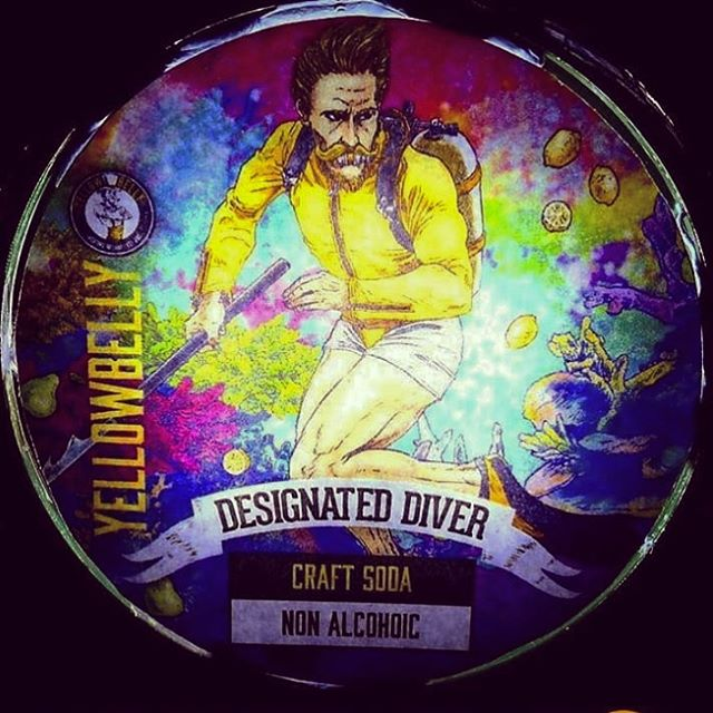 This is class! #DesignatedDiver, our collaboration with @yellowbellybeer is on tap in @gradysyard in Waterford. How cool is that! #craftsoda #nonalcoholic