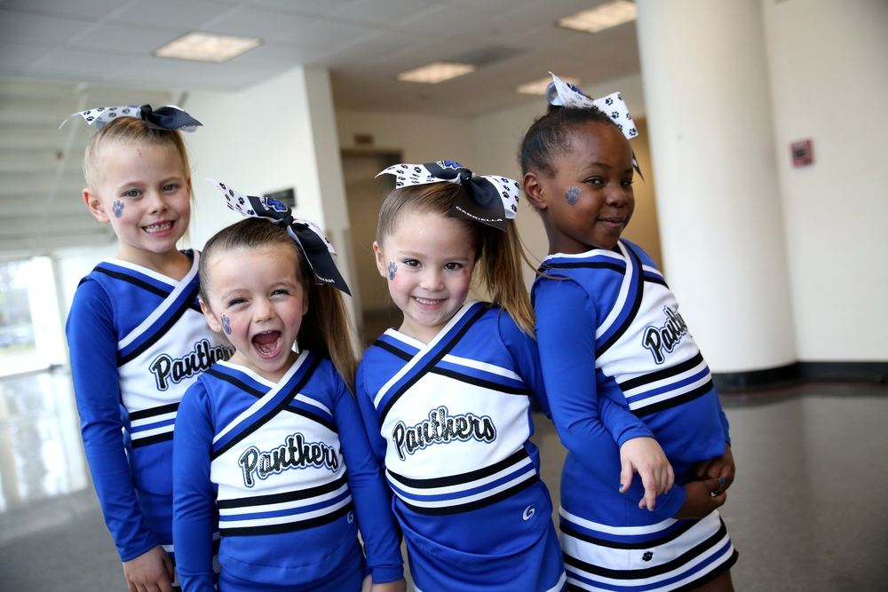 These girls wanted to showoff their cheer faces in the picture, I think they nailed it.