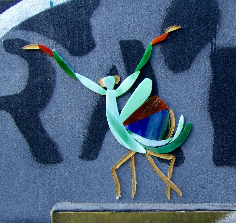 Wing-glass-street-art-female-praying-mantis-threat-display.jpg