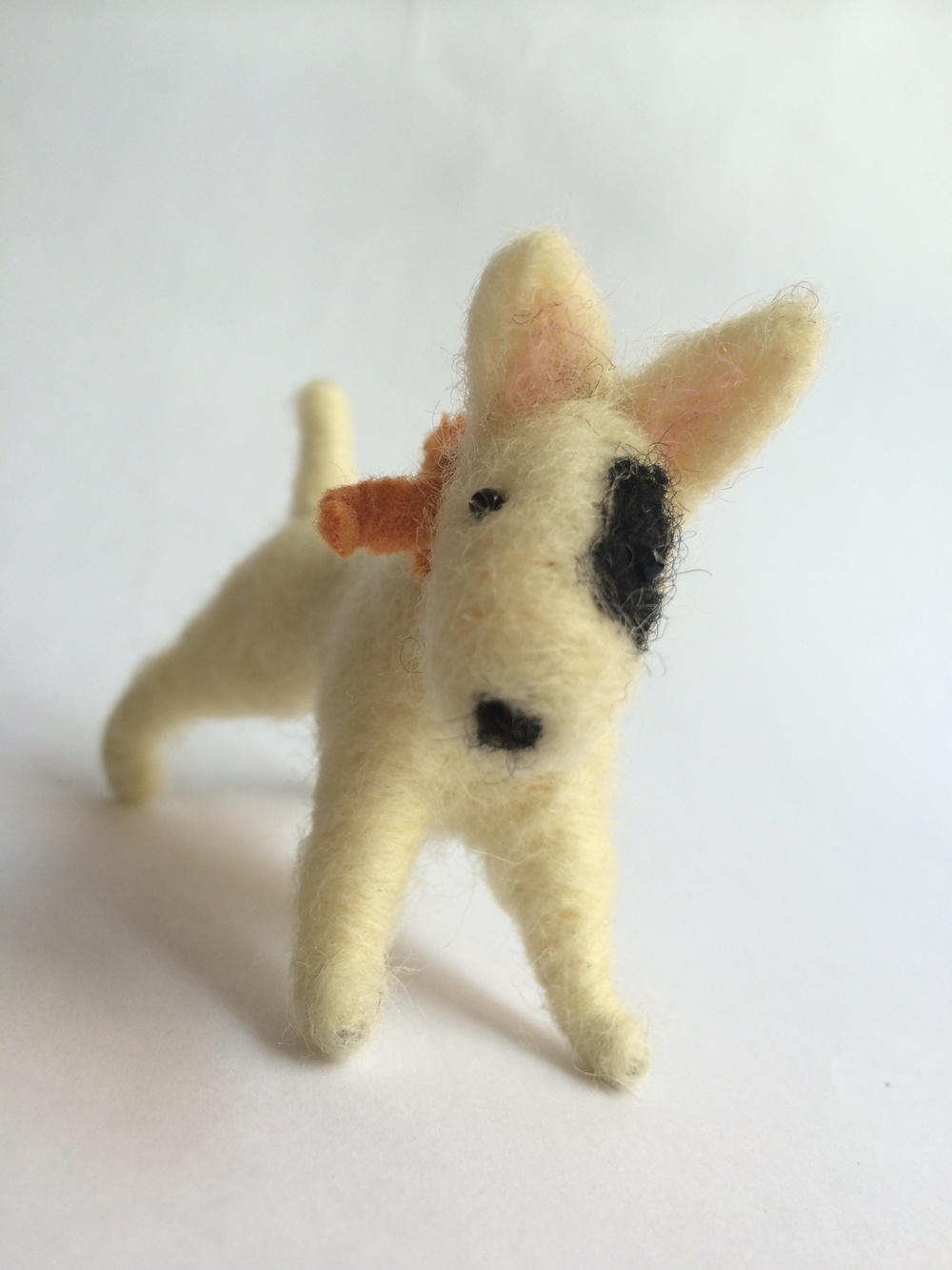 needle felted bull terrier