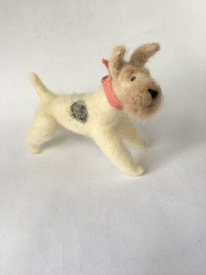 Needle Felted Dogs - Walking Olive