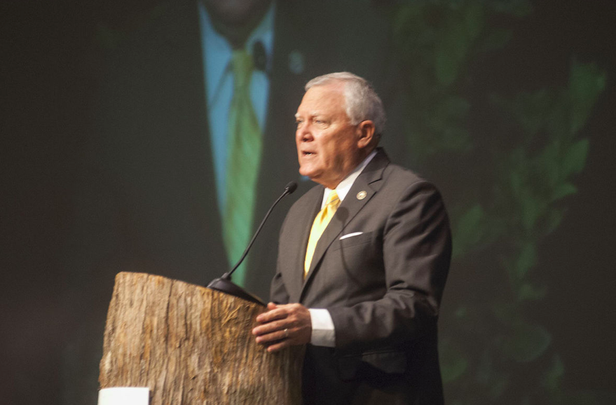 Governor Nathan Deal announces Georgia tourism's record-breaking economic impact at the Governor's Tourism Conference.