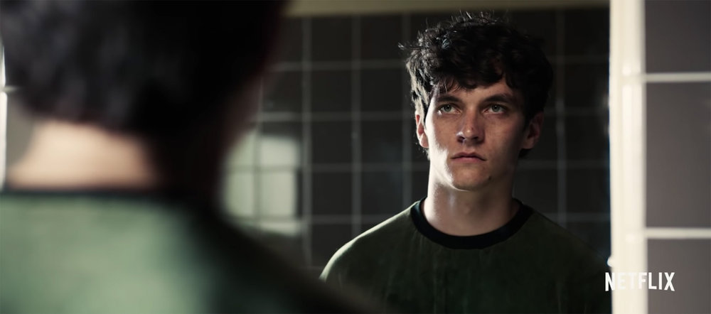 "Fionn Whitehead as Stefan Butler in ""Bandersnatch""   (2018)."