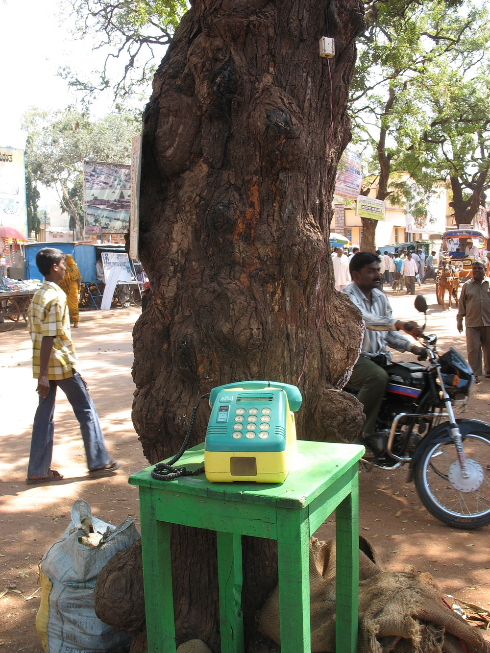 Thankfully we've moved past this in Europe. A payphone, while on some in travels, in India, 2008