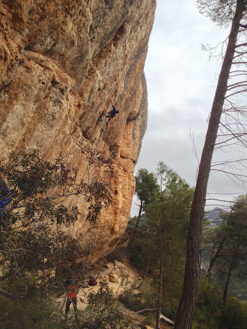 one of the new 'classic' 8a+'s of Margalef. Thin and bouldery to a good rest, to more thin and bouldery.