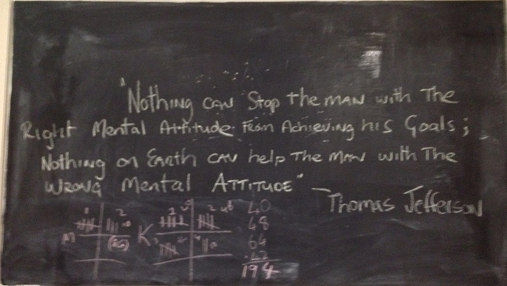 Nice words as written on the wall at No17PT