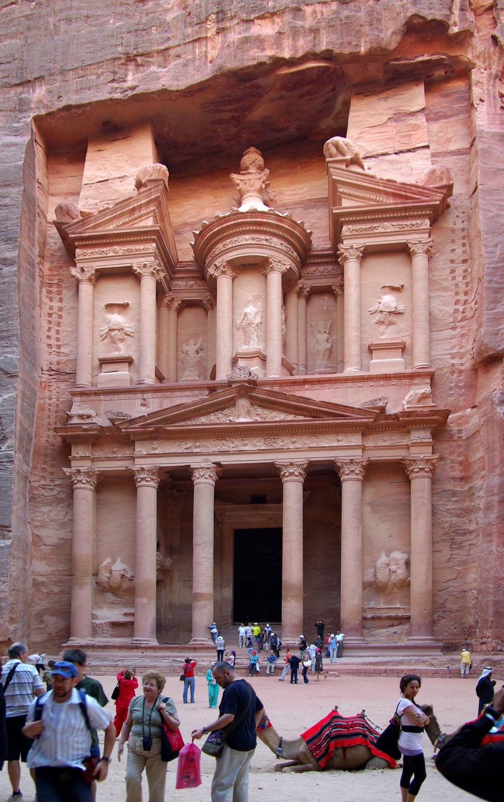 Al Khazneh (The Treasury) at Petra, Jordan. Credit:  Wikipedia
